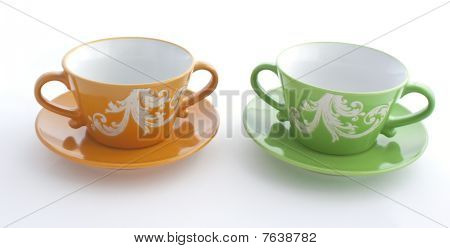 Orange And Green Cup
