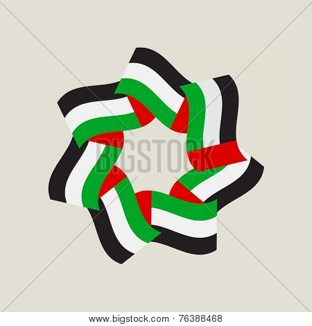 A symbolic unit of seven emirates in the united arab emirates. Vector illustration.