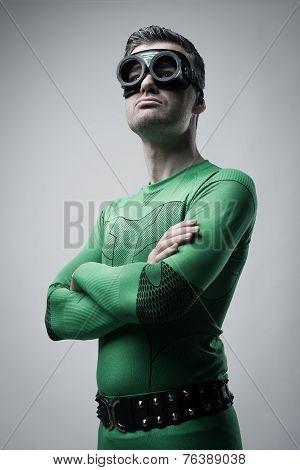 Confident Superhero Posing