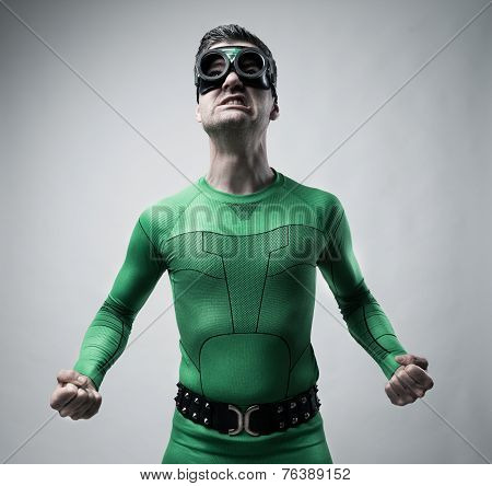 Funny Superhero Snarling