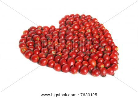 Heart Sign Of Hip Berries Isolated