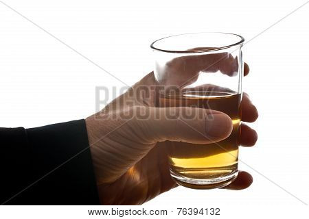 Man Behind Glass Of Brandy