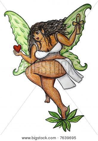 Curvy Ebony Fairy