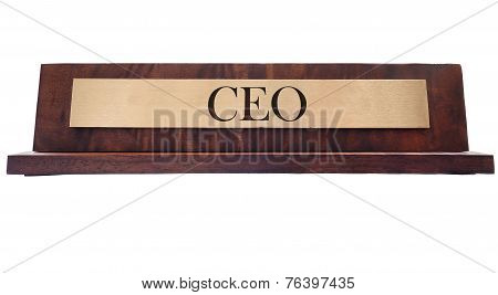 CEO Name Plate