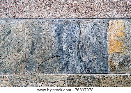 Close Up of Stone Brick or TileFull Frame Close Up Detail of Stone Brick or Tile Texture for Backgrounds