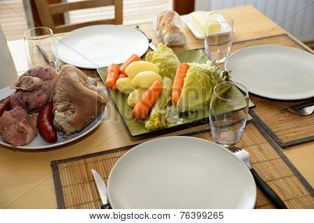 Pot-au-feu With Meat And Vegetables