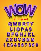 picture of descriptive  - Funny Colorful Alphapet Font to use for children - JPG