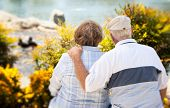 foto of elderly couple  - Happy Senior Couple Enjoying Each Other in The Park - JPG