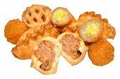 image of scotch  - Savoury party food snacks including mini scotch eggs - JPG