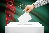 picture of turkmenistan  - Voting concept  - JPG
