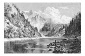image of g-spot  - Dunajec Valley near Szczawnica Town in the Tatras Mountains Poland drawing by G - JPG