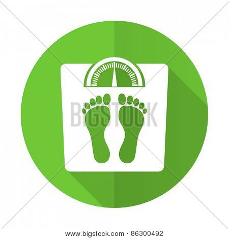 weight green flat icon