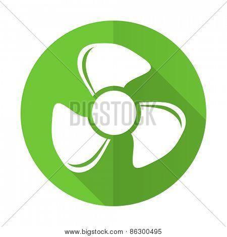 fan green flat icon