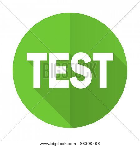 test green flat icon