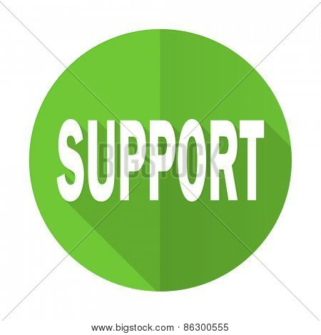 support green flat icon