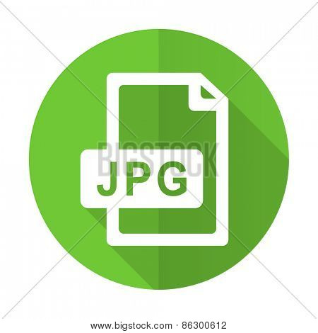 jpg file green flat icon