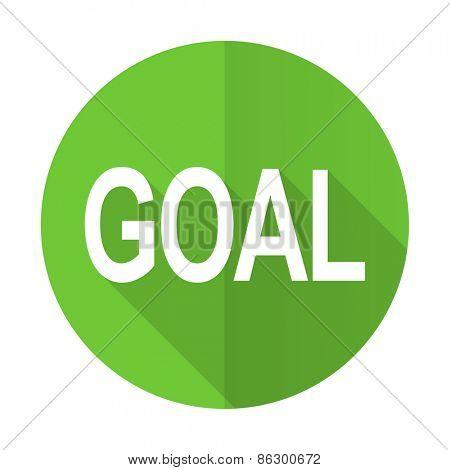 goal green flat icon