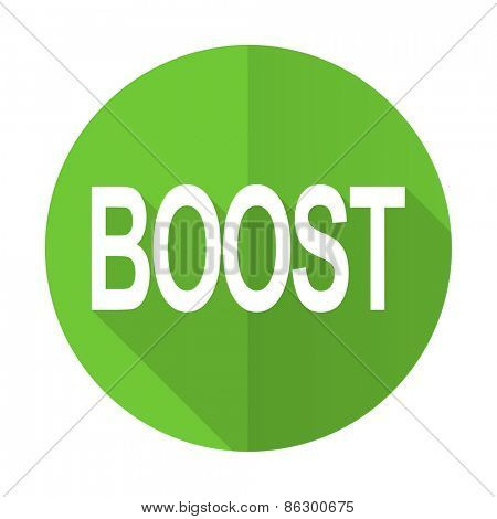 boost green flat icon