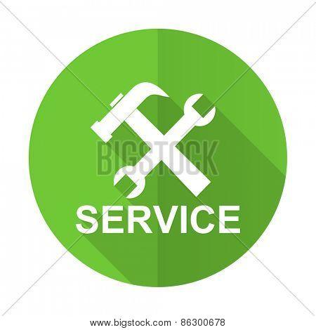 service green flat icon