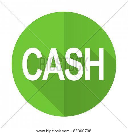 cash green flat icon