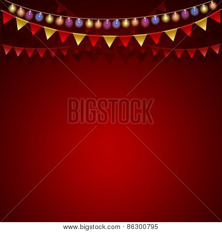 Red festive background.