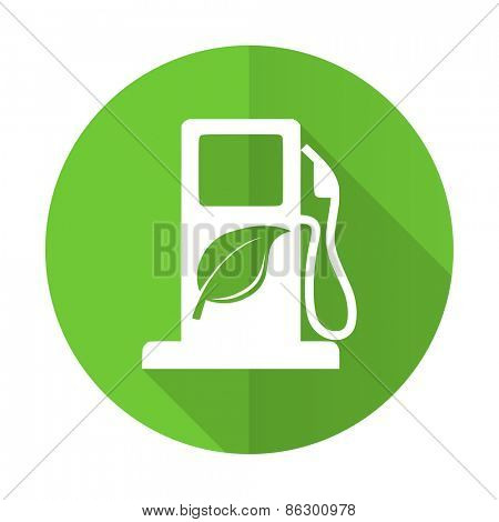 biofuel green flat icon bio fuel sign