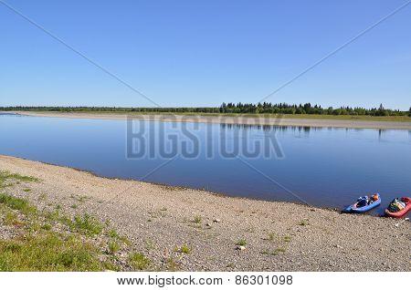 The Great Russian River Lemva.