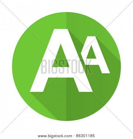 alphabet green flat icon