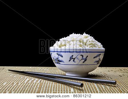 Bowl Of Natural Organic Jasmine Rice