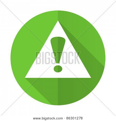 exclamation sign green flat icon warning sign alert symbol
