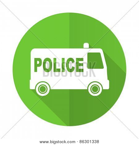 police green flat icon