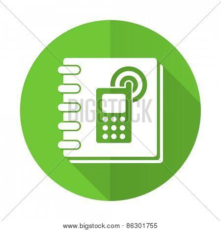 phonebook green flat icon