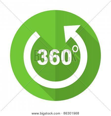 panorama green flat icon