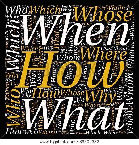 Questions Word Cloud