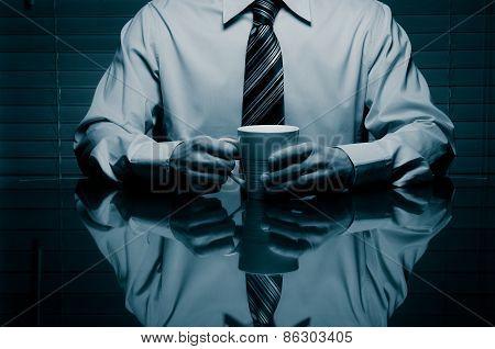 Man with a mug