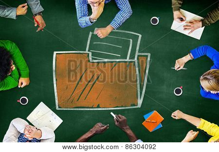 Files Folder Storage Information Database Directory Archive Concept