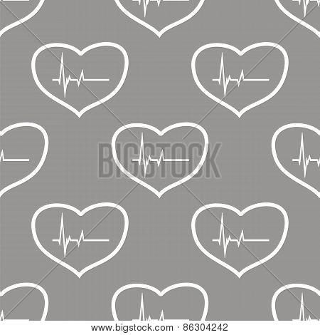 Heartbeat seamless pattern
