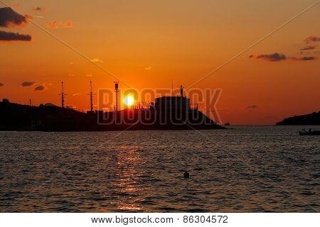 Sunset on the Aegean sea.