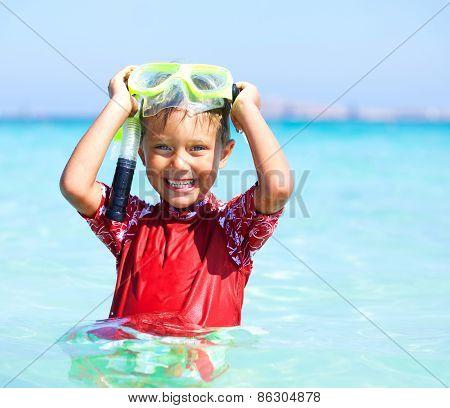 Boy snorkeling