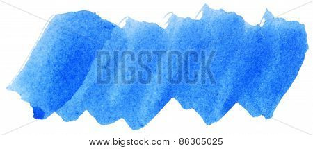 Blue Watercolor Abstract Paint Stroke