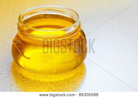 Jar Of Organic Floral Honey
