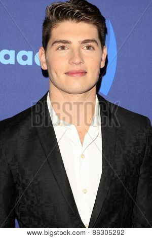 LOS ANGELES - MAR 21:  Gregg Sulkin at the 26th Annual GLAAD Media Awards at the Beverly Hilton Hotel on March 21, 2015 in Beverly Hills, CA