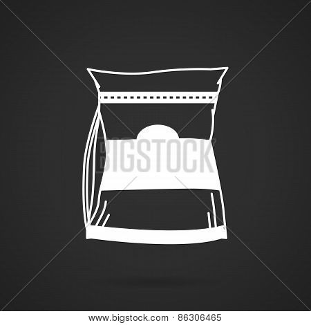 Glutamine supplement white vector icon