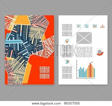 Flyer, Leaflet, Booklet Layout. Editable Design Template