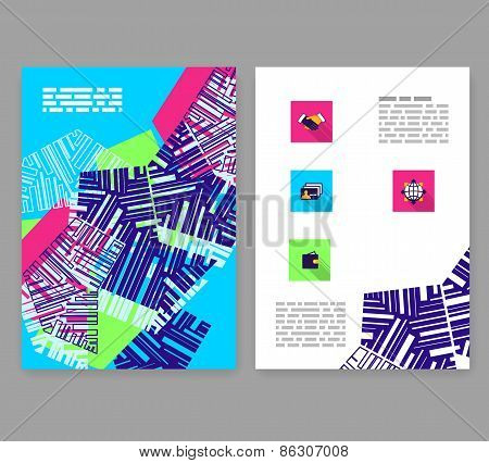 Flyer, Leaflet, Booklet Layout. Editable Design Template.
