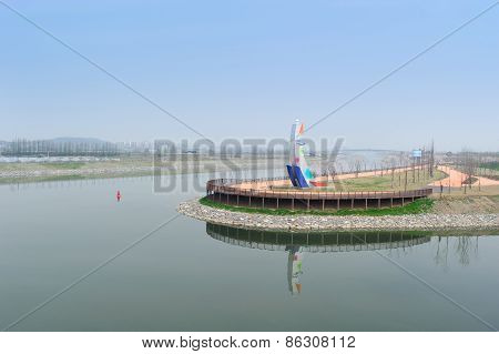 Gimpo, Korea - April 24, 2012: Ara Waterway