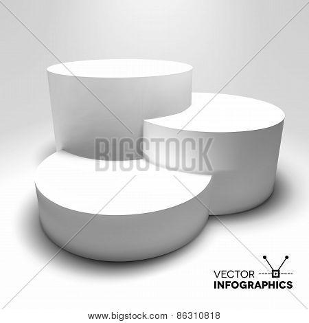 Infographic vector 3D pedestal