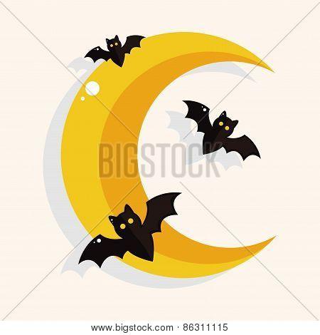 Halloween Moon Theme Elements
