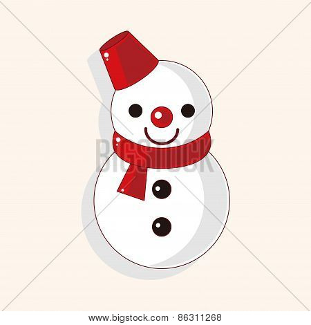 Snowman Cartoon Theme Elements