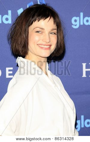 LOS ANGELES - MAR 21:  Alison Sudol at the 26th Annual GLAAD Media Awards at the Beverly Hilton Hotel on March 21, 2015 in Beverly Hills, CA